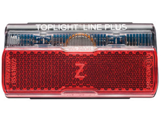 Busch + Müller Toplight Line + BrakeTec Brake Light with parking light 50 mm, black/red